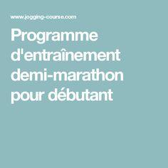 Programme d'entraînement demi-marathon pour débutant