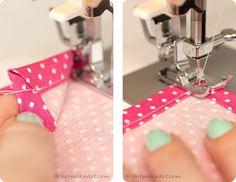 How to sew a mitered corner // cloth napkin or tea towel tutorial