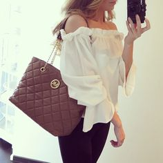 Quilted Mk Bag