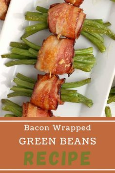 Bacon Wrapped Green Beans—fresh, crisp beans wrapped in flavorful bacon, topped with brown sugar, and baked to delicious perfection! #greenbeans #bacongreenbeans Appetizer Recipes, Appetizers, Party Recipes, Bacon Wrapped Green Beans, Best Bacon, Green Bean Recipes, Incredible Recipes, Slow Cooker Recipes, Side Dishes