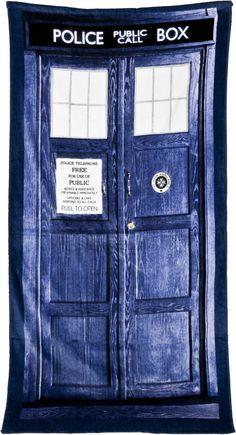 Tardis Doctor Who Towel