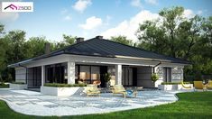 51 Ideas For Exterior House Bungalow Home Plans Bungalow Homes, Bungalow House Plans, Bungalow House Design, Modern House Design, House Plans Mansion, Dream House Plans, Home Building Design, Building A House, Home Styles Exterior