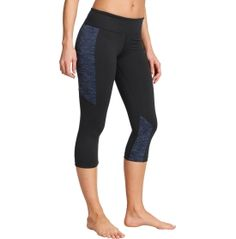 Step up your fitness goals with the Under Armour® Women's StudioLux® Step It Up Capris. From yoga classes at the studio to cardio at the gym, these fitted bottoms keep you ultra-comfortable with soft and supportive fabrication. Moisture-wicking materials keep you dry and light, while the wide waistband sits perfectly on your hips. Advanced seam placement ensures a flattering look so there's nothing stopping you in these UA capris.
