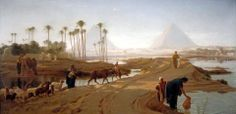 The Subsiding of the Nile, Egypt 1873 By Frederick Goodall