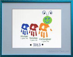 Caterpillar Child Handprint Art for 24 by CreationsbyTamiLynn