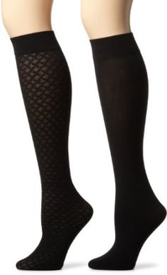 #Jones New York Women's 2 Pack Basketweave Trouser Socks, Black, One Size Jones New York. $12.00  Hosiery #2dayslook #Hosiery style #HosieryrfashionHosiery  www.2dayslook.com