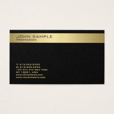 Trending Modern Monogram Elegant Black Gold Business Card - architect gifts architects business diy unique create your own