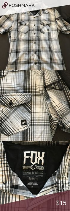 Fox Racing Men's Button Up Mens button up fox Racing shirt. Mint condition. Worn once for photos. Runs like a S/M. Fox Shirts Casual Button Down Shirts