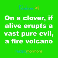On a clover, if alive erupts a vast pure evil, a fire volcano