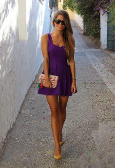 Violet sexy party dress ...  http://www.youtube.com/watch?v=2LjiuvyislA