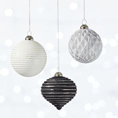 Celebrate the season with modern holiday decor, including unique Christmas accessories, Thanksgiving serveware and Halloween table accents. Modern Christmas Ornaments, Christmas Balls, Christmas Holidays, Christmas Decorations, Winter Holiday, Christmas Stuff, Xmas, Christmas Tree, Modern Holiday Decor