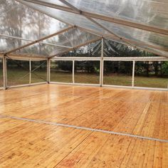 Clear Marquee with wooden floor