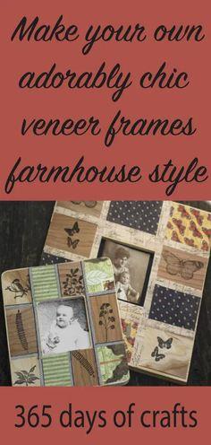 make your own chic veneer farmhouse frames from the thrift store.  #farmhouse #thriftstore #chic #diy