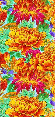 equilter.com. Floral pattern orange