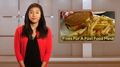 Fixes for a fast food meal. Tips to eat healthier on the run #HealthDayLiving #VIDEO