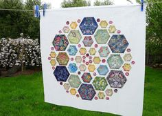 LIberty Hexagon Mandala by Cabbage Quilts, via Flickr