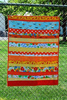 Orange Strip Quilt