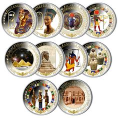 Sterling Silver 10-Coin Subscription - Ancient Egypt (2015)