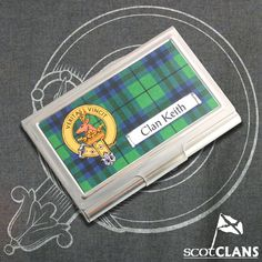 Clan Crest Business Card Case *New* Scottish Clans Tartans Kilts Crests and Gifts