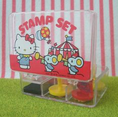 Vintage 1976 Hello Kitty Rubber Stamp Set! These were my favorite! I still have them.