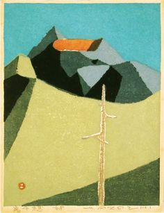 畦地梅太郎「高千穂」(1968)
