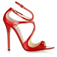 9833faa833c Jimmy Choo Lance Red Patent Leather Strappy Sandals