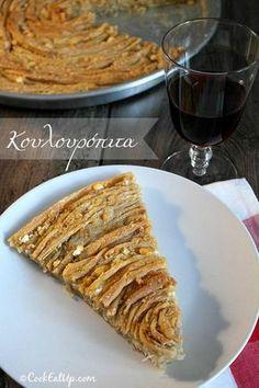 Κουλουρόπιτα Pizza Pastry, Greek Pastries, Greek Cheese, Cheese Pies, Love Eat, My Best Recipe, Middle Eastern Recipes, Greek Recipes, Food Porn