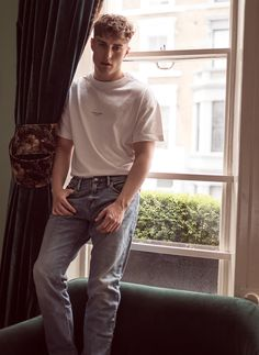 Sam Fender: The View From The Brink Of Superstardom #clothing #fashion #jeans #denim #male #standing #tshirt