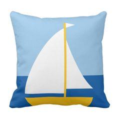 Trikeri Greece Sailing Boat Throw Pillow #trikeri #greece #greeksouvenir