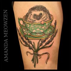 here is a hedgehog in a cup...for a tattoo