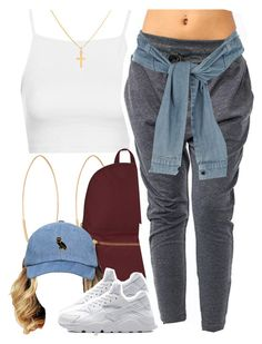 """""""August 13, 2k15"""" by xo-beauty ❤ liked on Polyvore featuring Lana, Topshop, Herschel Supply Co., NIKE, Sterling Essentials and River Island"""