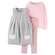 3534bfc55 Toddler Girls' 3 Piece Owl Jumper Set Grey/Pink - Just One You™Made by  Carter's®