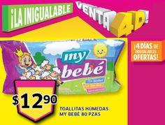 "Aprovecha esta Oferta para tu bebe:  - Toallitas Húmedas ""My Bebe""  de  850 piezas $12.90"