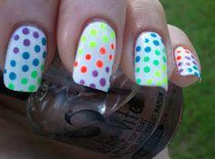 Neon Polka Dots!!!