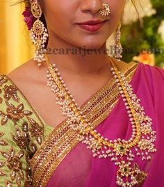 Latest Collection of best Indian Jewellery Designs. Traditional Indian Jewellery, South Indian Jewellery, Indian Jewellery Design, Jewelry Design, Saree Jewellery, Temple Jewellery, Half Saree Designs, Sr1, India Jewelry