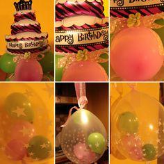 Composizione palloncini compleanno. Torta di palloncini.buon compleanno. Baloons decoration