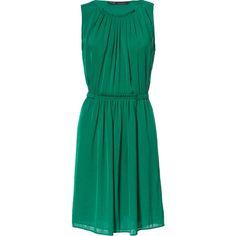 Zara Gathered Dress ($60) ❤ liked on Polyvore