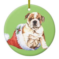 Happy Howliday Bulldog Ornament