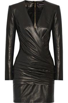 Balmain|leather #dress