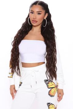 Teen Fashion Outfits, Women's Fashion Dresses, Girls Night Out Outfits, White Dresses For Women, Zip Hoodie, Cropped Hoodie, White Hoodie, Women Swimsuits, Lounge Wear