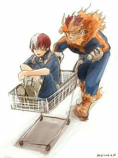 Endeavor & Todoroki Shouto // Boku No Hero Academia Boku No Hero Academia Funny, My Hero Academia Shouto, My Hero Academia Episodes, Hero Academia Characters, Anime Characters, Manga Anime, Me Anime, Fanarts Anime, Anime Art