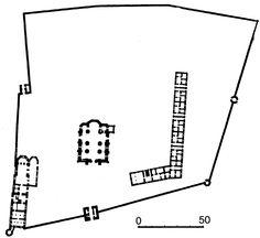 План Гамаліївського монастиря за М. Цапенком