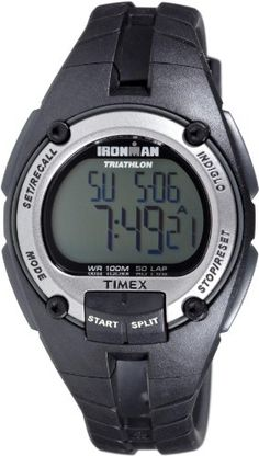 Men's Wrist Watches - Timex Mens T5K155 Ironman Traditional 50Lap Black Resin Strap Watch *** For more information, visit image link.