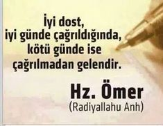 hz-omer-sozleri-iyi-dost Feeling Down, How Are You Feeling, Meaningful Lyrics, Good Sentences, Some Words, Word Of God, Islamic Quotes, Karma, Quotations