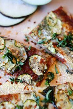 Zucchini & Eggplant Pizza