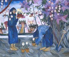 Natalia Goncharova, Gardening, 1908,