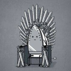 The Iron Throne - a laFraise t-shirt design by Wirdou