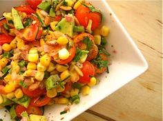 Crisp Veggie Salad with Corn and Avocado