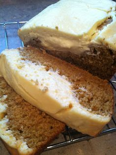 Pumpkin Cream Cheese Bread.
