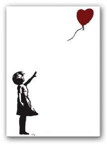 Banksy Heart Balloon Girl Canvas Painting   Canvas Art Paintings